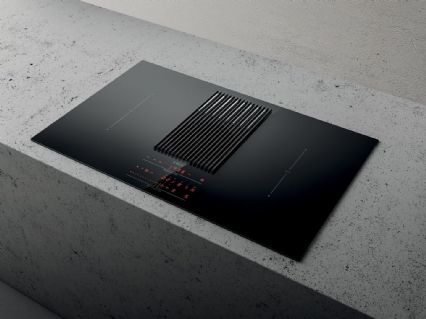 Elica NIKOLATESLA LIBRA-DO-BLK 83cm Ducted Air Venting Induction Hob, with built in weighing scales